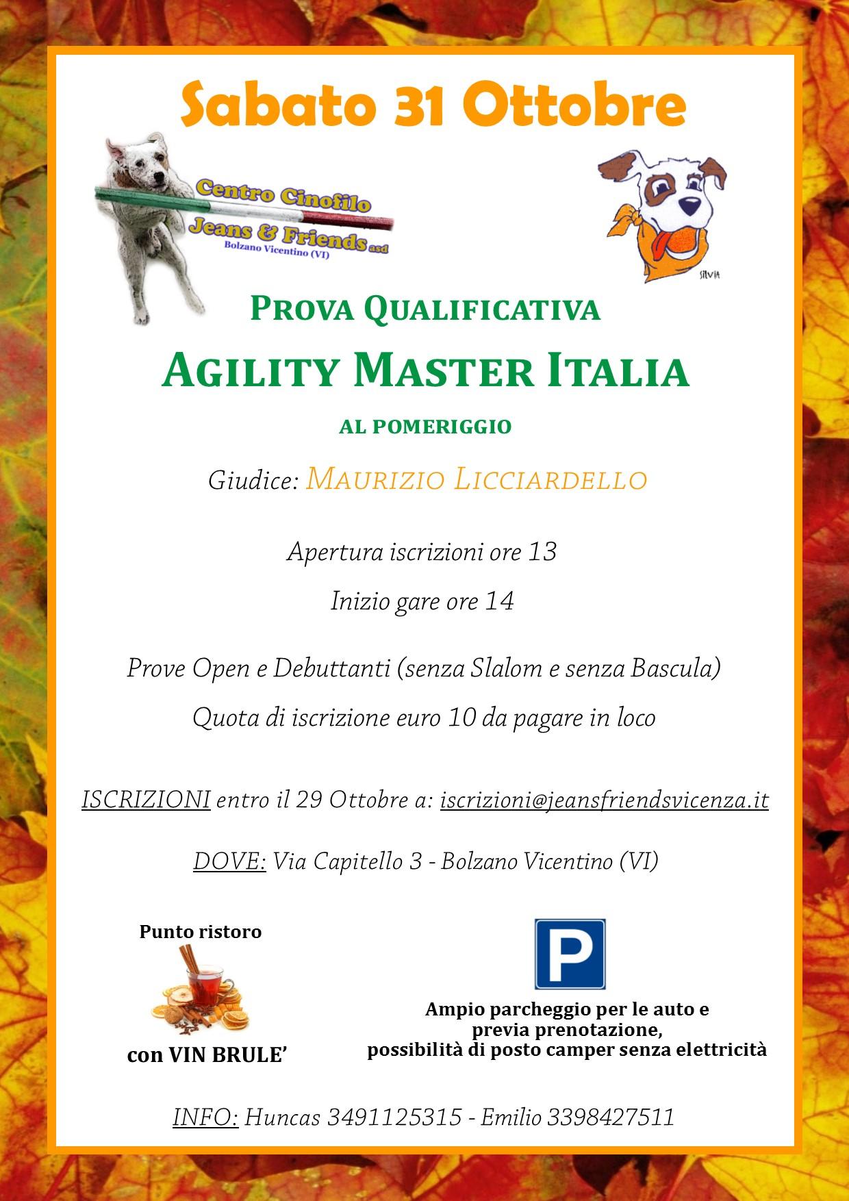locandina master 31 ottobre